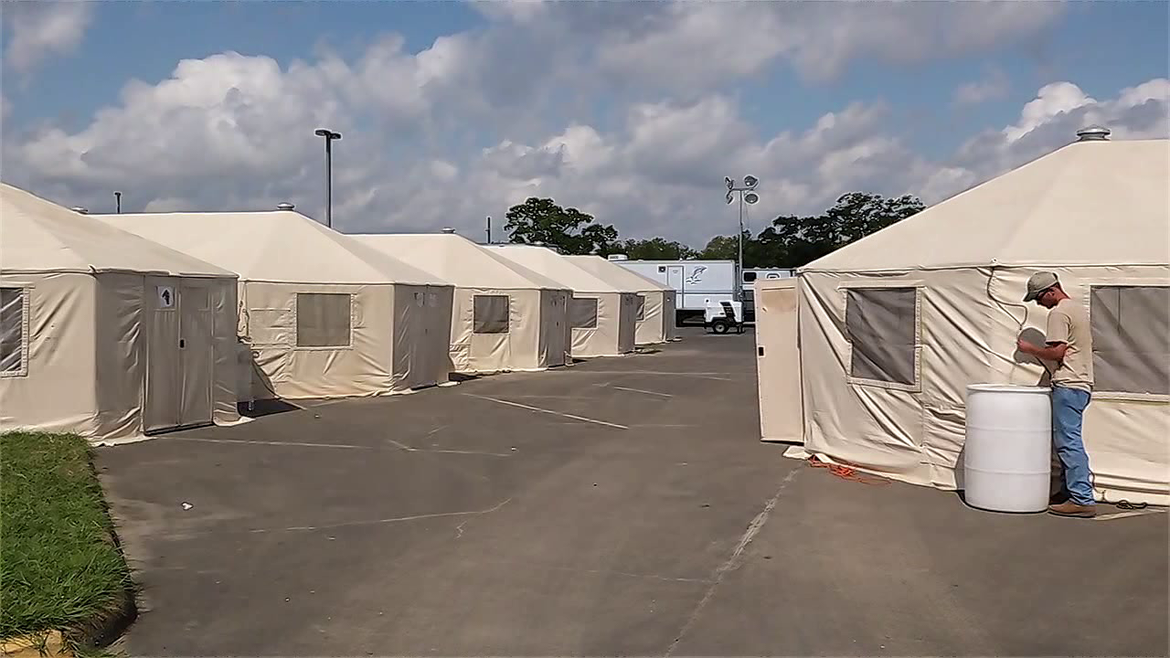 12newsnow.com | Harvey evacuees and displaced residents move to temporary tent shelter & 12newsnow.com | Harvey evacuees and displaced residents move to ...
